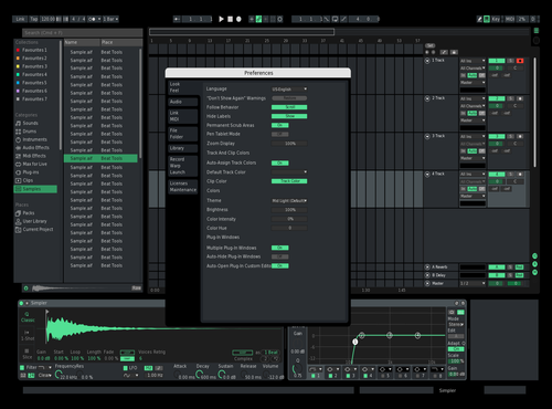 Dark Green Theme for Ableton 10 by Alex