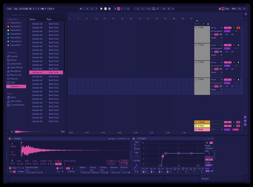 Neon Purple Theme for Ableton 10 by Ableton Themes
