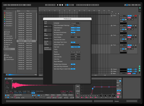 Dark Pinky Blue Theme for Ableton 10 by William Schefold