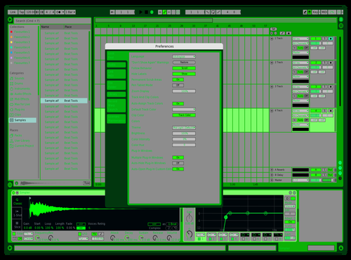 GREENFIELD Theme for Ableton 10 by Zavok