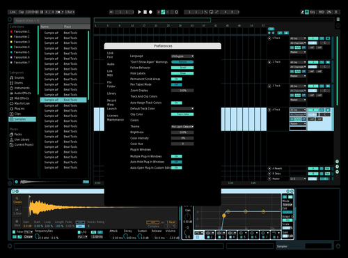 Black-Blue Theme for Ableton 10 by Karla van Niekerk