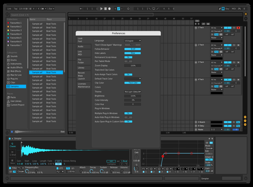 RedBlue Theme for Ableton 10 by Ferry Lie