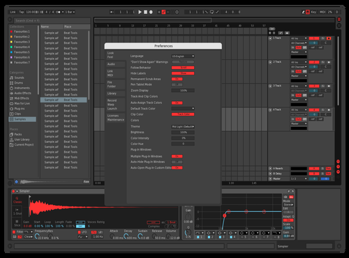 Red Theme for Ableton 10 by ppperson