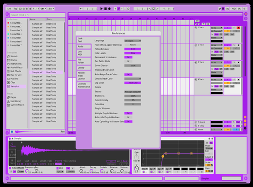 Purple Dream Theme for Ableton 10 by K Boyz
