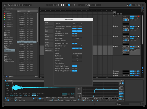 Blue Theme for Ableton 10 by Nitish Kansara