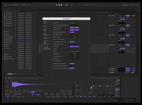 Simple Dark Purp Theme for Ableton 10 by foxyred