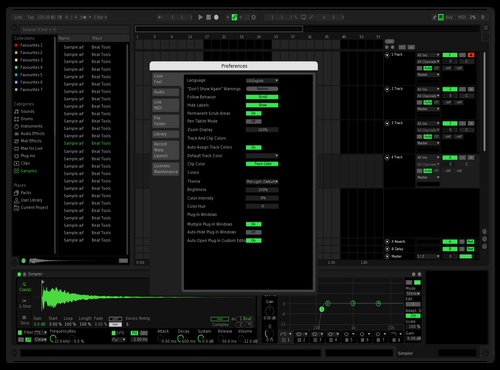 Rainbow Clips Spotify Theme for Ableton 10 by Kerry