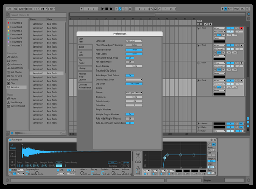 Mid Light Blue Theme for Ableton 10 by E-KLIPSE