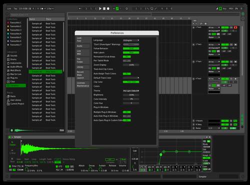Green Theme for Ableton 10 by Jason5757