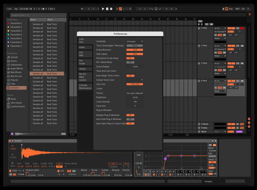 Theme Theme for Ableton 10 by Regimeo