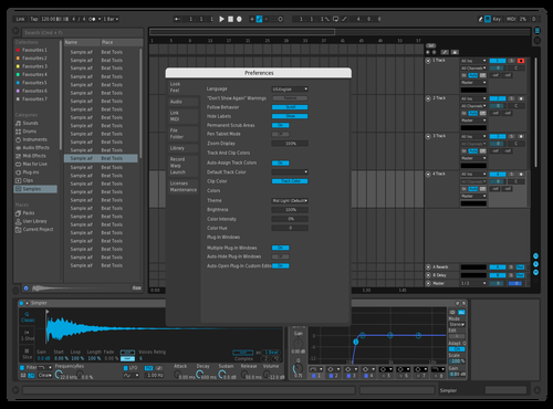 Dark Blue Theme for Ableton 10 by Liam