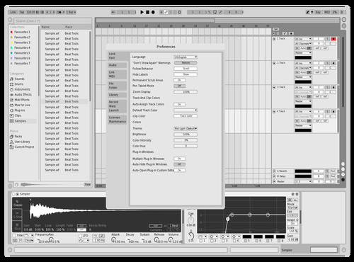Very Light Theme for Ableton 10 by Michael