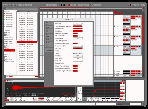 MODERN RED Theme for Ableton 10 by vincent van de perre