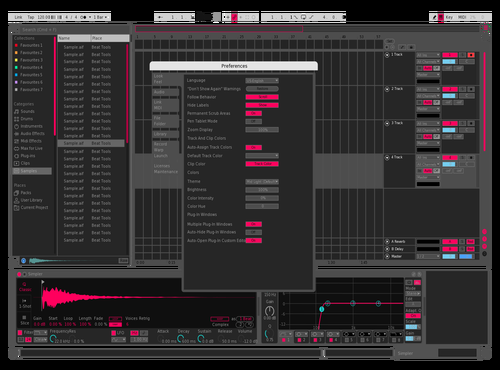Transparente Rosa Theme for Ableton 10 by SCRE4M