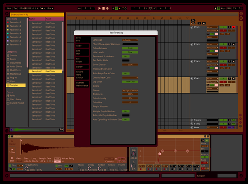 Red Wine in Autumn Theme for Ableton 10 by Michael