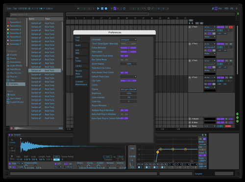 Dark Mod Theme for Ableton 10 by John Partipilo