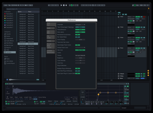 Bluish Theme for Ableton 10 by Godric