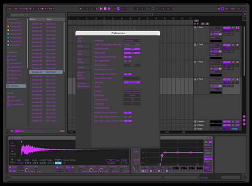 Purple Theme for Ableton 10 by slagur