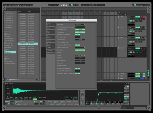 Teal Mid Dark 2 Theme for Ableton 10 by Declan