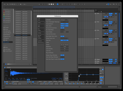 Electric Blue (Ableton) Theme for Ableton 10 by alixo_music (Alixo)