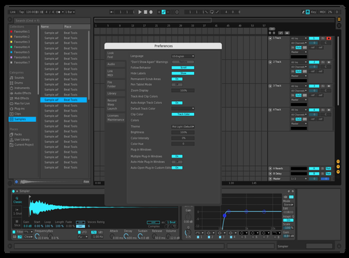 Dark Green & Blue Theme for Ableton 10 by DJSpiderByte