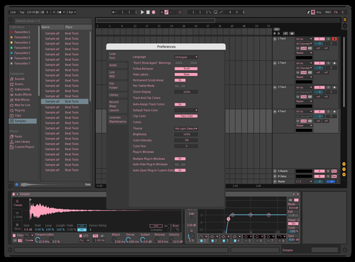 Light pink Theme for Ableton 10 by YBK_Beats