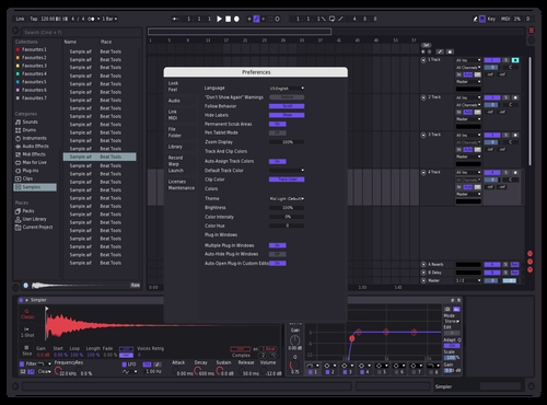 Tin Theme for Ableton 10 by Reaver