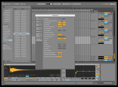 Mid Light (light text) Theme for Ableton 10 by skyne7