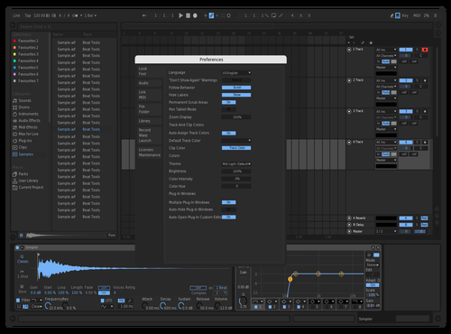 Blue Theme for Ableton 10 by Jackson