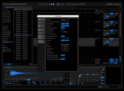 Blue Black Date Knight Theme for Ableton 10 by Emir
