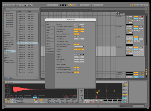 Mid Light with Red wire Theme for Ableton 10 by 496032460
