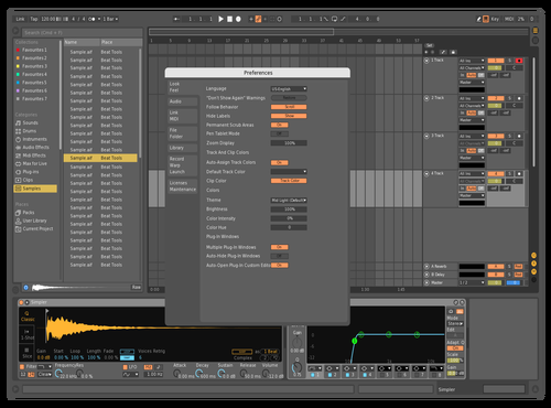 Dark Theme for Ableton 10 by Live