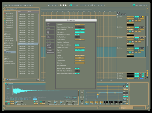 Blue Theme for Ableton 10 by Eddie