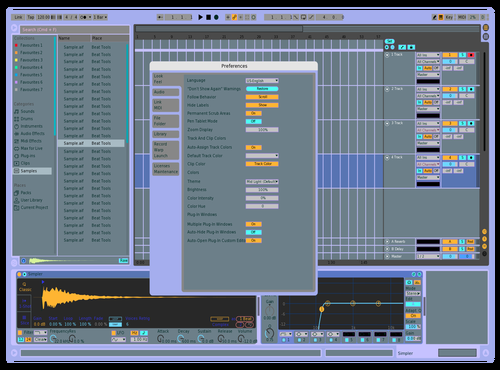 Lavend3r Theme for Ableton 10 by Kris