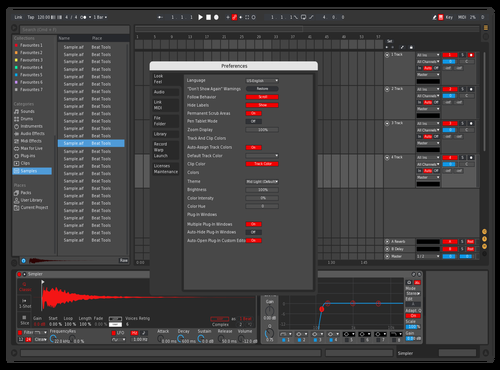 Very Shitty Red Dark Theme for Ableton 10 by Anton
