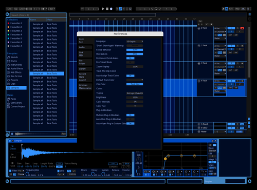 Blue Theme for Ableton 10 by Garrett E Boldry