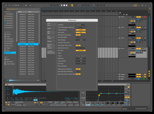 Minimal Blue Theme for Ableton 10 by SiaTell