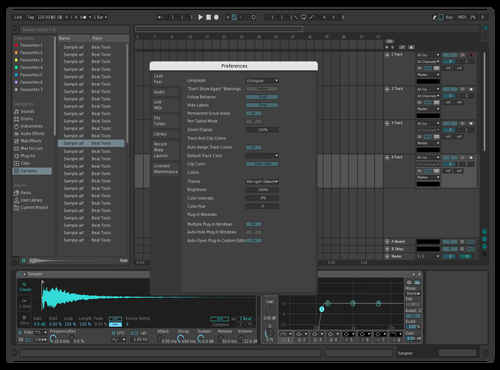 Dark blume Theme for Ableton 10 by sitau