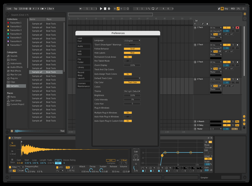 Test Dark 1 Theme for Ableton 10 by Maxwell Miller