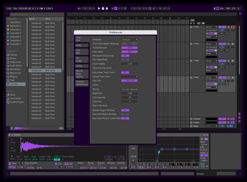 Purple Flavour Theme for Ableton 10 by Zachary