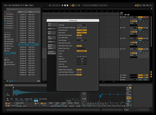 Blue Theme for Ableton 10 by sejan