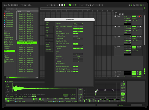 Dark Lime Theme for Ableton 10 by klangmaster