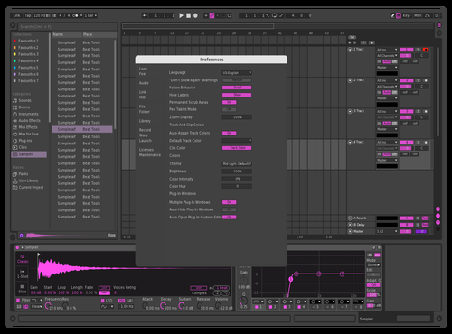 Pink Dark Theme for Ableton 10 by Henri Koivuranta