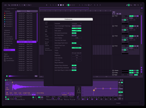 FrozenGlx Custom Theme Theme for Ableton 10 by Alin-Cosmin