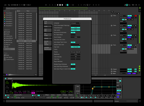 Neon Night Theme for Ableton 10 by ynw