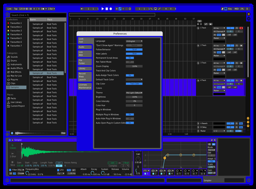 My Blue and Green Theme for Ableton 10 by Rich Khalil