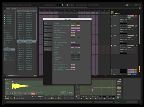 Rainbow Dark Theme for Ableton 10 by Andrzejm Malin