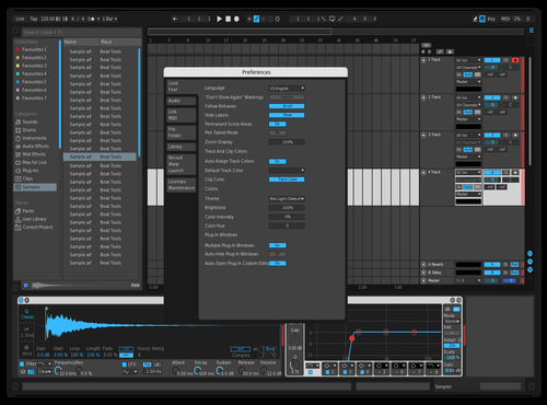 Powder/Red Theme for Ableton 10 by Nate