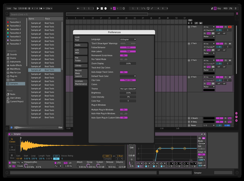 Noir Theme for Ableton 10 by Draxis