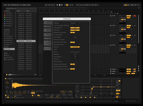 Yellow Remix Theme for Ableton 10 by Leo Laguero
